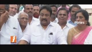 Martyrs Statue Crates Dispute Between Jupalli Krishnarao and Jithender Reddy | Mahabubnagar | iNews - INEWS