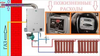 Газовое отопление лишние расходы / Отопление - убытки / Газовый котел  тратит электричество