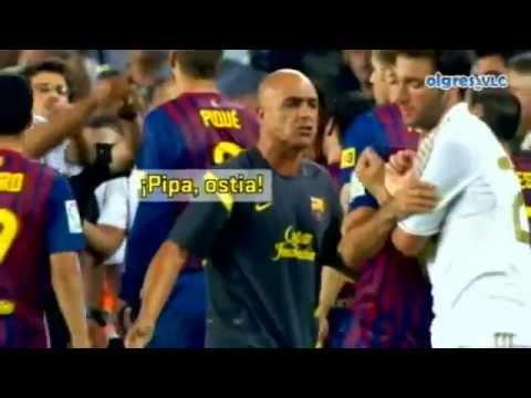 pelea de  Barcelona Vs Real Madrid