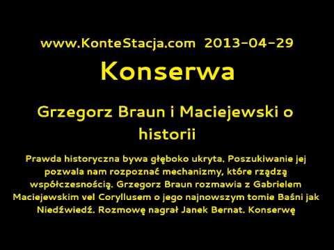 Konserwa : Grzegorz Braun i Maciejewski o historii