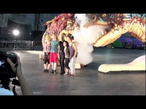 The CAST of How to Train Your Dragon Arena Spectacular