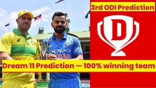 Dream 11 Prediction: India vs Australia 3rd ODI | 100% winning team - NEWSXLIVE