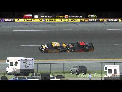 iRacing Reenactment Series : 2011 Bowyer Burton Talladega Finish