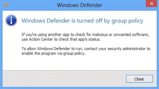 how to turn on windows defender windows 10 group policy