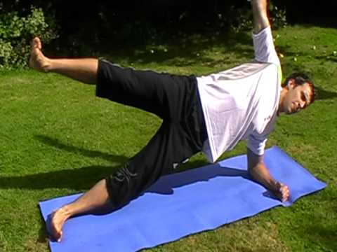 Abdominal Exercise - Lateral Plank Raise (Hold)