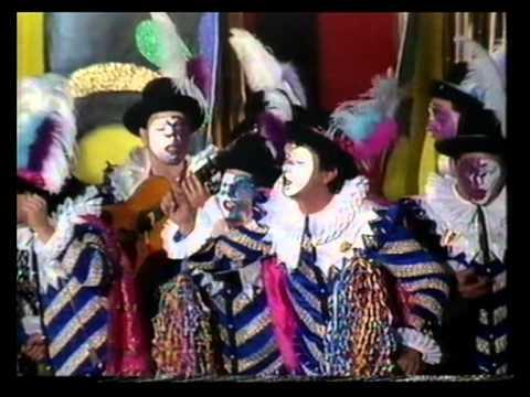 Sesión de Final, la agrupación Tras la mascara actúa hoy en la modalidad de Comparsas.