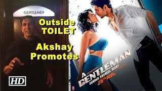 Outside TOILET- Akshay promotes Sidharth's 'A Gentleman' - IANSLIVE