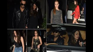 In Graphics: Ranveer Singh partying with sister Ritika Bhavnani, Sonakshi Sinha and Aditi - ABPNEWSTV