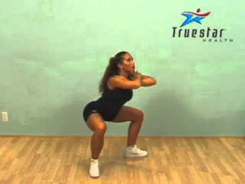 Body Squats - Legs Apart (arms crossed) Adult Female