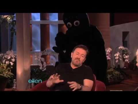 Ricky Gervais Gets an Eight-Legged Scare