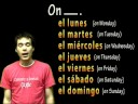 01008 Spanish Lesson - Days of the Week