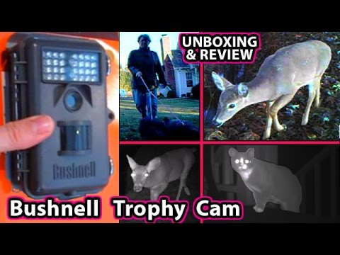 Bushnell Trophy Cam UNBOXING 6 Mega Pixel HD 8 Bone Collector NatureView