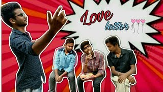 LOVE LETTER || A telugu short film in 2018||Comedy Park - YOUTUBE