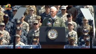 Pence Makes Remarks to US Service Members Aboard the USS Ronald Reagan | Mango News - MANGONEWS