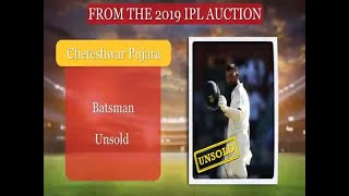 IPL Auction 2019 : Cheteshwar Pujara goes unsold - ABPNEWSTV