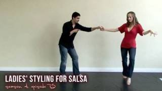 Sexy Salsa Dancing with Styling for Ladies