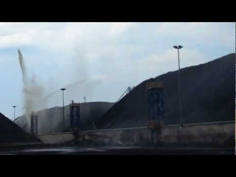 Coal Pile Dust Suppression InTurkey With Nelson Big Guns