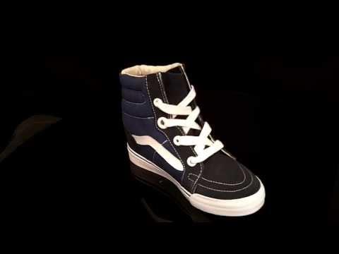 Vans SK8-Hi Wedge Navy True White sneakers VUDHNWD Vans Sleehak sneakers