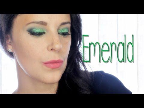 Emerald green makeup, gemstones serie | Silvia Quiros