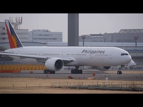 Philippine Airlines Boeing 777-300ER RP-C7774 Takeoff from NRT 16R