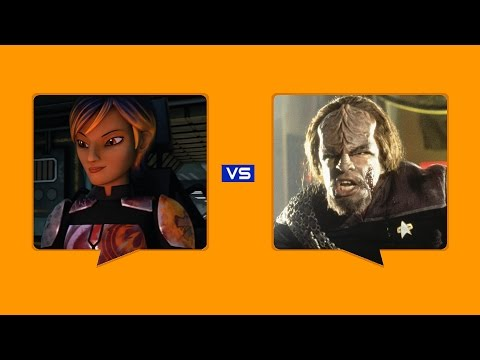 Sabine Wren (Star Wars) Vs Worf (Star Trek)