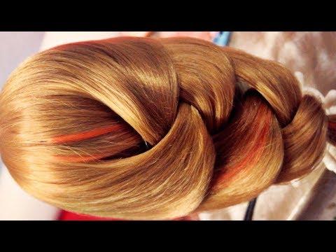 Прическа на каждый день - широкая коса, на длинные волосы