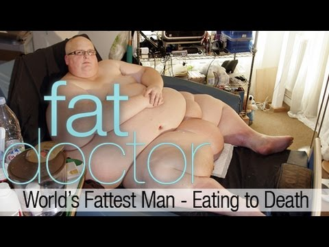 World's Fattest Man - Eating to Death - 900 lbs Paul Mason consumes 20,000 calories a day