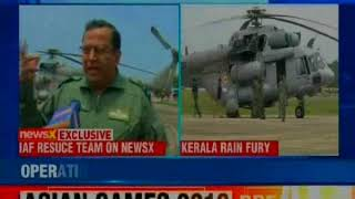 Kerala floods: IAF team on NewsX says, we are trying hard to bring back normalcy - NEWSXLIVE