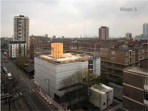 Murray Grove (Stadthaus) Construction Sequence 2008