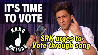 SRK spreads message about voting through song - IANSLIVE