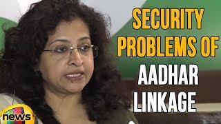 AICC Leader Shobha Oza Press Brief Over Security Problems Of Aadhar Linkage | Mango News - MANGONEWS