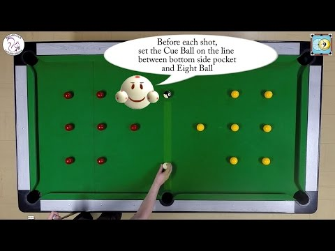 BlackBall Exercise #14 - 15 Balls with Ball in Hand - Pool & Billiard Training Lesson