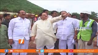 Central Health Minister JP Nadda Inspects Mangalagiri AIIMS Construction Works | iNews - INEWS
