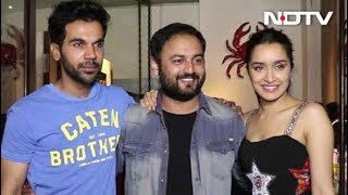 Shraddha Kapoor & Rajkummar Rao At The Wrap-Up Party Of Stree - NDTV