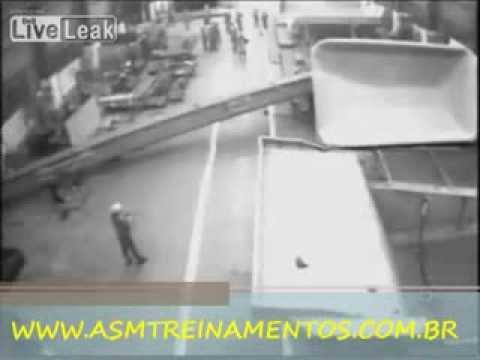 Acidente Ponte Rolante - Real - Curso - ASM Treinamentos