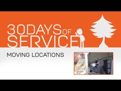 30 Days of Service by Brad Jamison: Day 12 - Moving Locations