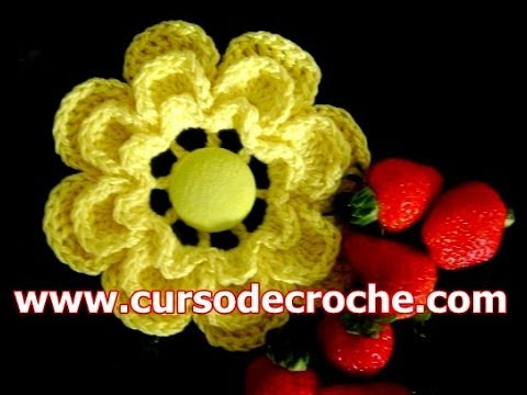 CROCHE AULA FLOR MODELO 044