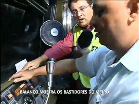 Geraldo Luís encara a profissão de condutor de metrô em São Paulo