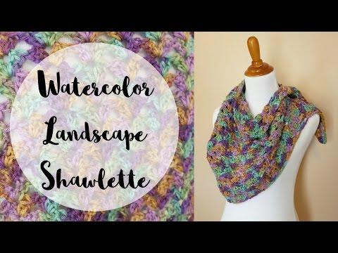 How To Crochet the Watercolor Landscape Shawlette, Episode 397