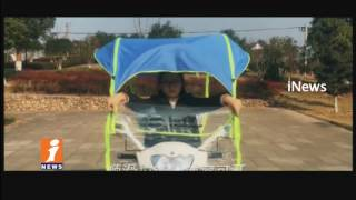 News Trend Bike Umbrella For Two Wheeler Vehicles | Summer Effect | iNews - INEWS