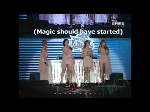 Secret's mistakes on stage