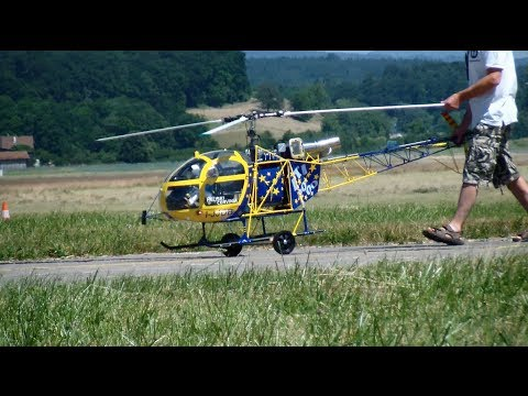 Gigantic RC Heliski Cervinia Scale Lama 3 Helicopter