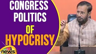 Union Minister Prakash Javadekar Says, Congress Politics Of Hypocrisy | Mango News - MANGONEWS