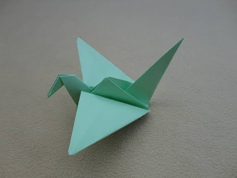 Origami: Crane - Papiroflexia: Grulla