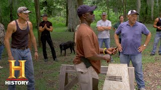 Swamp People: Bonus - Knife Throwing Battle: Finals (Season 9) | History - HISTORYCHANNEL