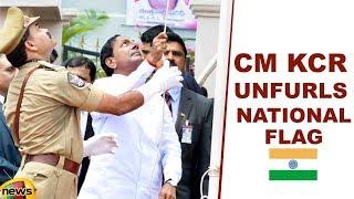 CM KCR Unfurls National Flag At Golconda In Hyderabad | Telangana | Mango News - MANGONEWS