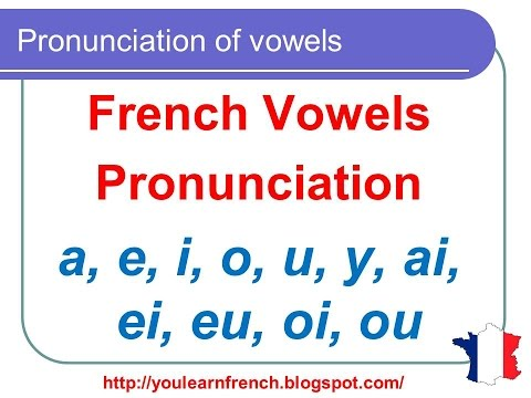 French Lesson 124 - Pronunciation of vowels - semi-vowels in French - How to pronounce French words