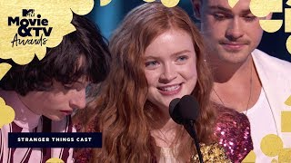 The 'Stranger Things 2' Cast Accepts the Award for Best Show | 2018 MTV Movie & TV Awards - MTV