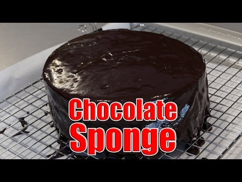 Chocolate Sponge Cake Recipe With Dark Chocolate Ganache recipe