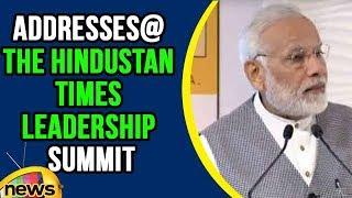 PM Modi Addresses At The Hindustan Times Leadership Summit | Mango News - MANGONEWS